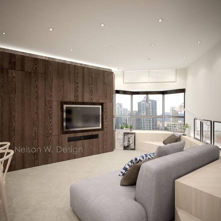Illumination Terrace 光明臺 | Tai Hang Road 大坑道: modern Living room by Nelson W Design