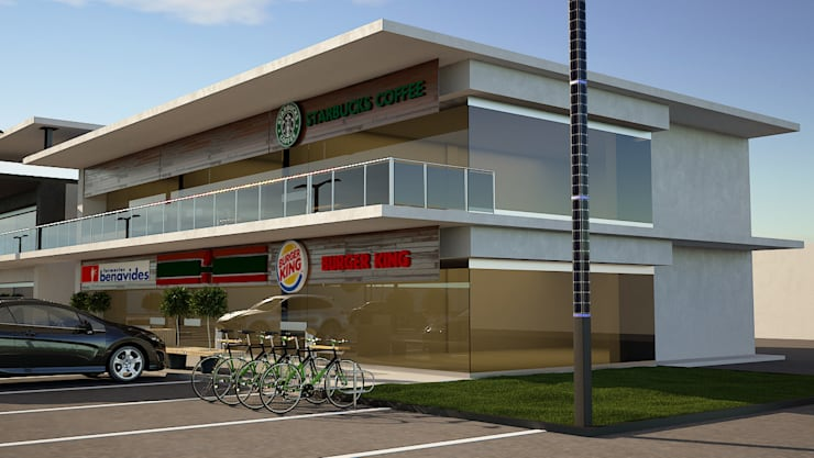 Locales Comerciales IMSS Centros comerciales de estilo moderno de Modulor Arquitectura Moderno Concreto