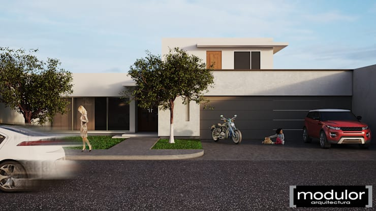 Fachada Leones: Casas de estilo  por Modulor Arquitectura