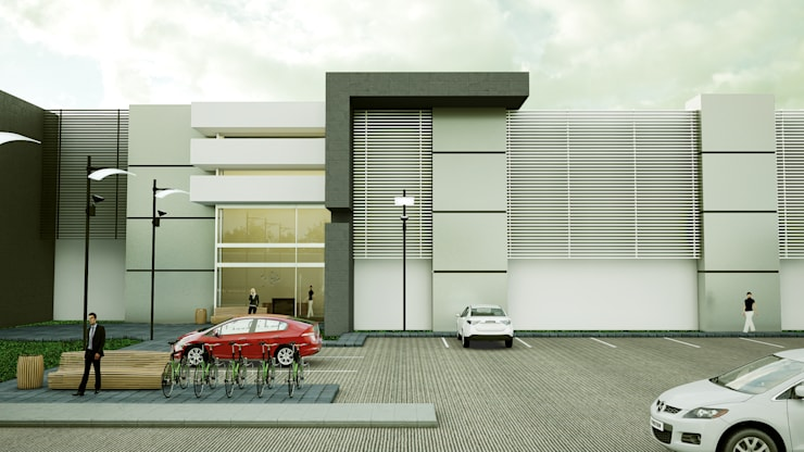 Edificio de Oficinas: Edificios de Oficinas de estilo  por Modulor Arquitectura