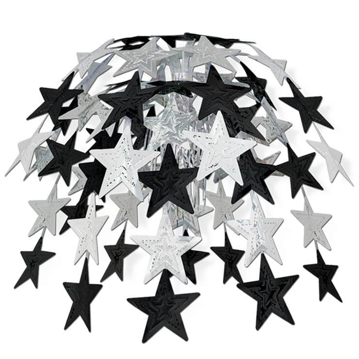 Große Hängekaskade Silver Starlight:  Geschäftsräume & Stores von Party-Extra
