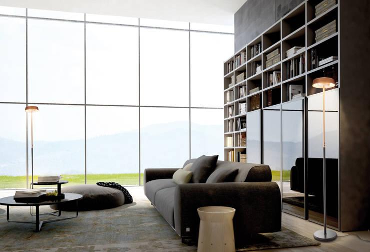 Salas/Recibidores de estilo moderno por MANTRA ILUMINACION