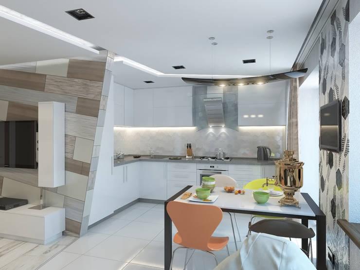 На стыке стилей: Кухни в . Автор – Fusion Dots