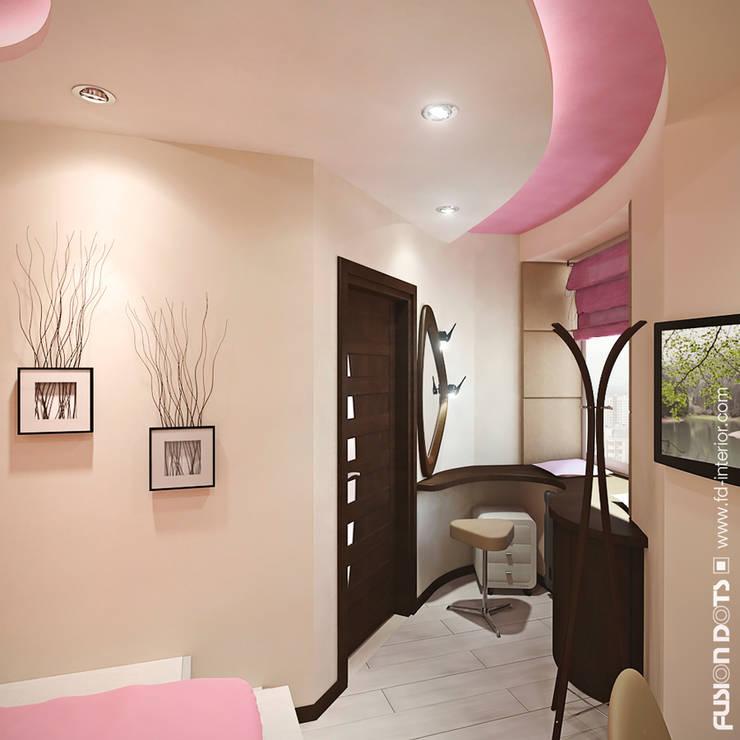 Квартира в стиле <q>фьюжн</q>: Спальни в . Автор – Fusion Dots