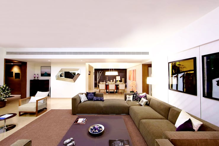 ABIL Experience Center - Castle Royale T4: modern Living room by Aijaz Hakim Architect [AHA]