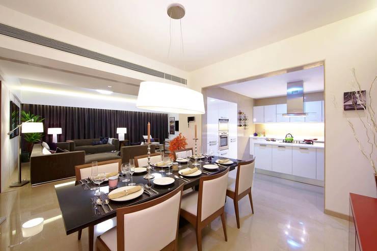 ABIL Experience Center - Castle Royale T4: modern Dining room by Aijaz Hakim Architect [AHA]