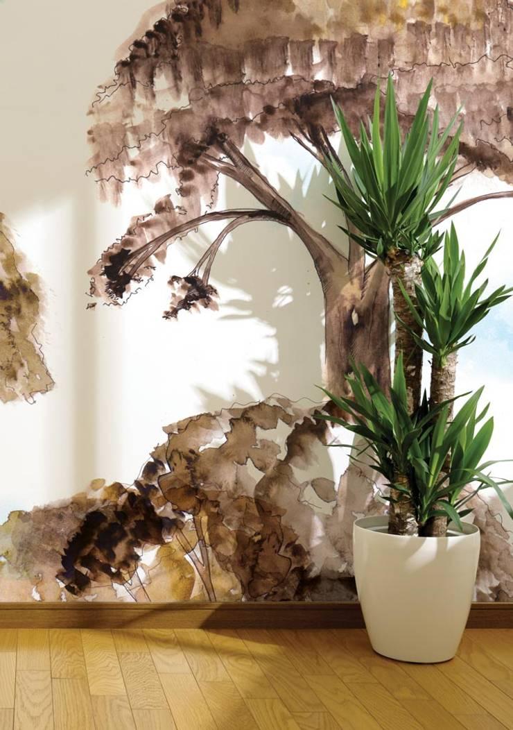 HF008-01-Enchanted-Trees: Lojas e espaços comerciais  por House Frame Wallpaper & Fabrics