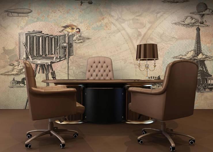 HF025-Paris-City: Lojas e espaços comerciais  por House Frame Wallpaper & Fabrics