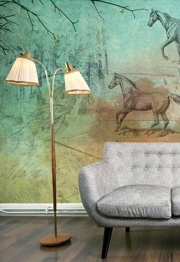 HF030-Horserace: Lojas e espaços comerciais  por House Frame Wallpaper & Fabrics