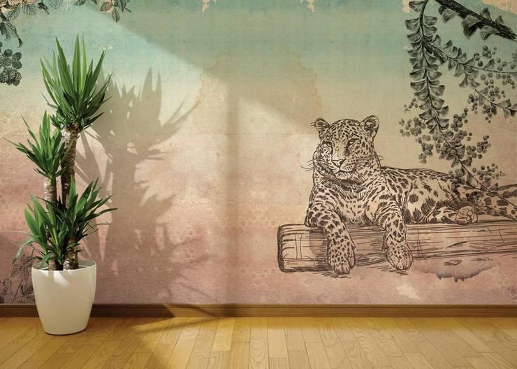 HF031-Leopard: Lojas e espaços comerciais  por House Frame Wallpaper & Fabrics
