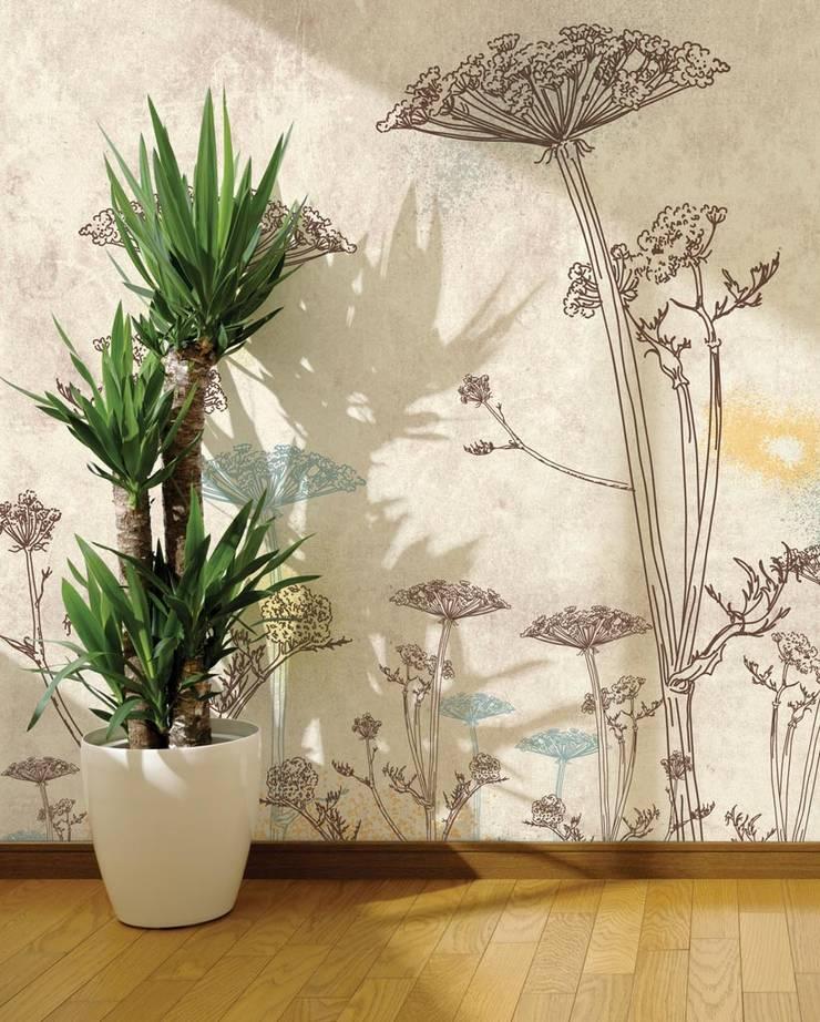 HF035-Giant-flowers: Lojas e espaços comerciais  por House Frame Wallpaper & Fabrics