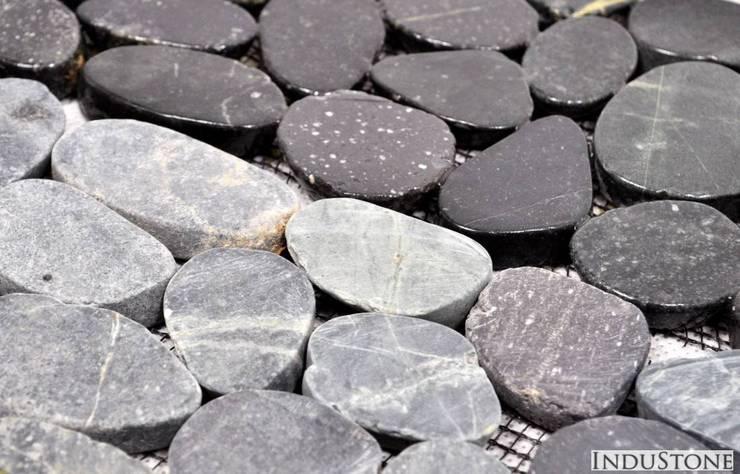 DEKOR BLACK OTOCZAK: styl , w kategorii Ściany i podłogi zaprojektowany przez Industone.pl