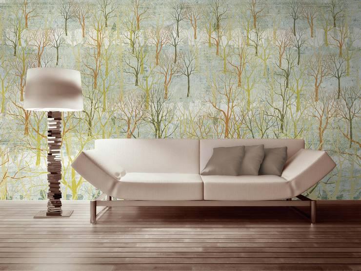 HF051-Woodland: Salas de estar  por House Frame Wallpaper & Fabrics