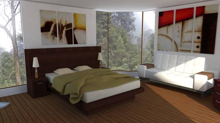 غرفة نوم تنفيذ Trianaarquitectos