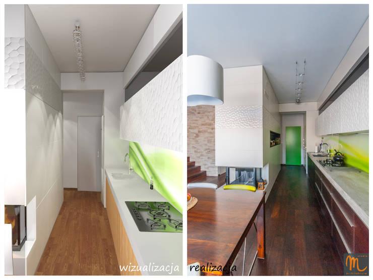 ZIELONE POLA: styl , w kategorii Kuchnia zaprojektowany przez studio m Katarzyna Kosieradzka