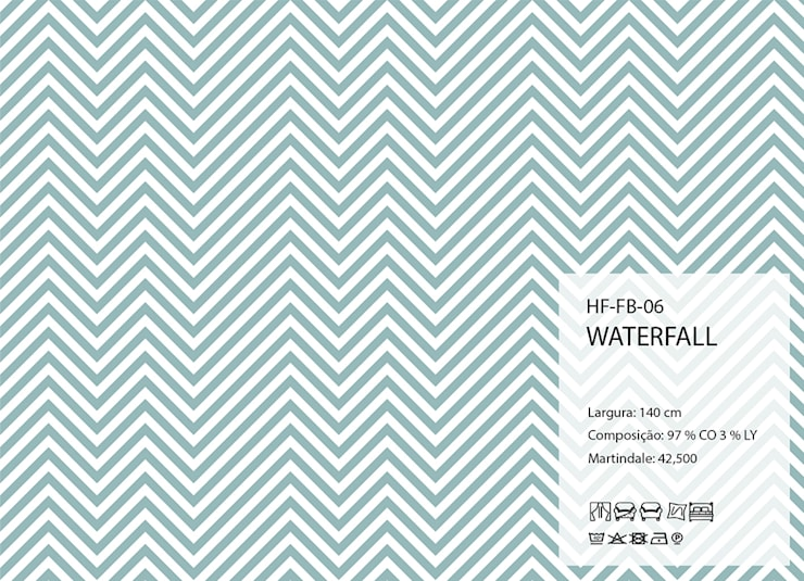 HF-FB-06-WATERFALL: Arte  por House Frame Wallpaper & Fabrics