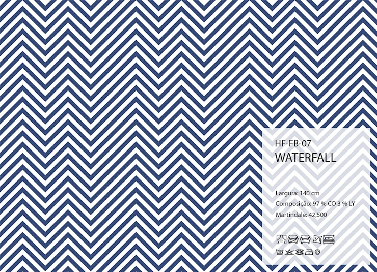 HF-FB-07-WATERFALL: Arte  por House Frame Wallpaper & Fabrics