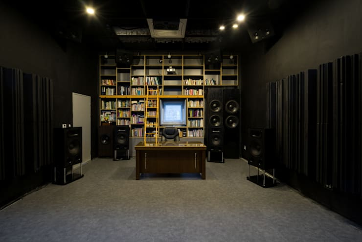 Home Theater: 'Snow AIDe의  서재 & 사무실