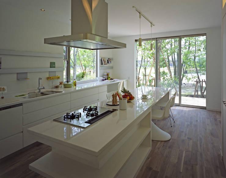 サトヤマヴィレッジの家のキッチン: 株式会社エス・コンセプトが手掛けたキッチンです。,モダン