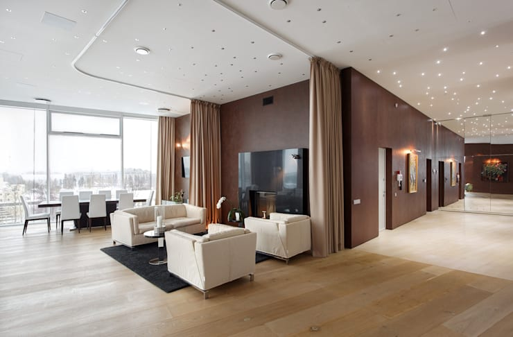 Salas de entretenimiento de estilo  por ARCHDUET&DA