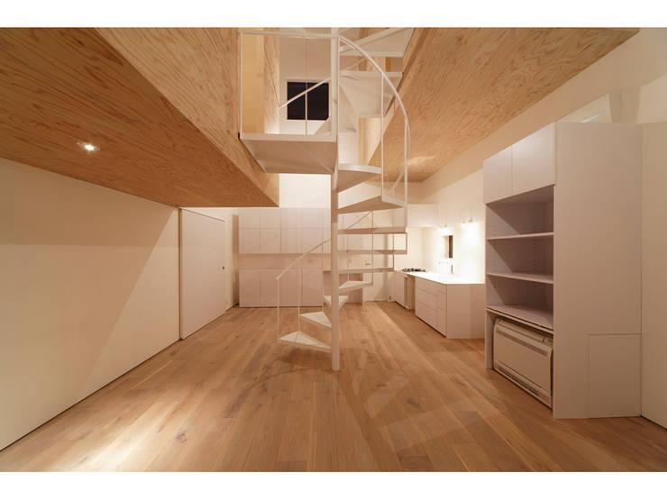 SN-house: TNdesign一級建築士事務所が手掛けたリビングです。