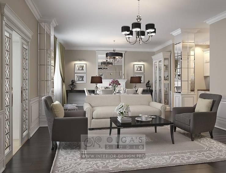Арт-деко в дизайне гостиной: фото: Гостиная в . Автор – Olga's Studio