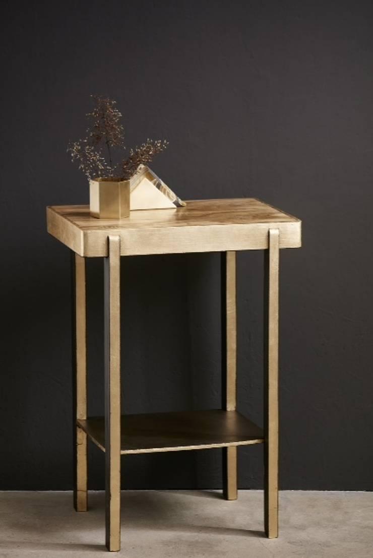 Złoty stolik w stylu ArtDeco: styl , w kategorii Salon zaprojektowany przez PatyNowy