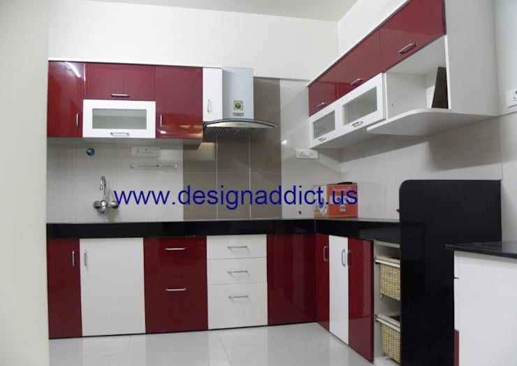 3BHK interior design in Pune: modern Kitchen by Designaddict