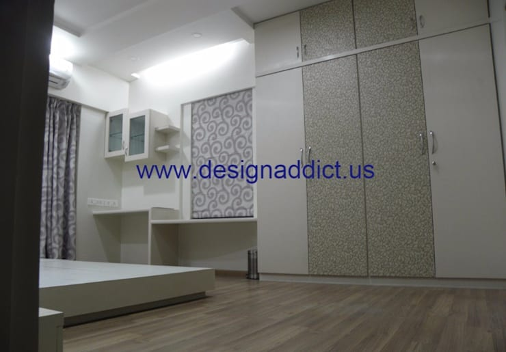 3BHK interior design in Pune: modern Bedroom by Designaddict