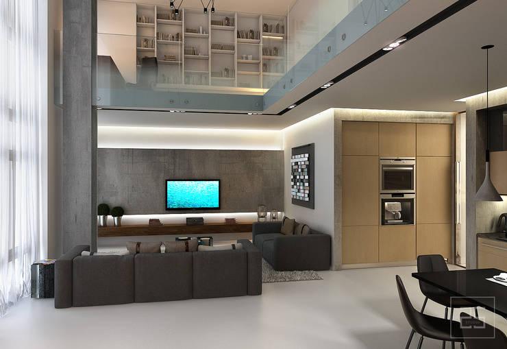 Salas de estar industriais por Studio 25