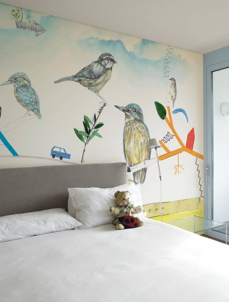 HF003-The-Birds:   por House Frame Wallpaper & Fabrics