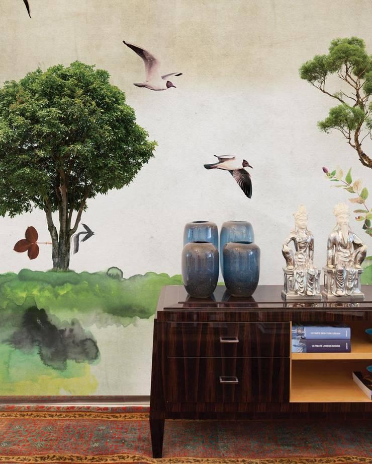 HF006-Two-Trees:   por House Frame Wallpaper & Fabrics