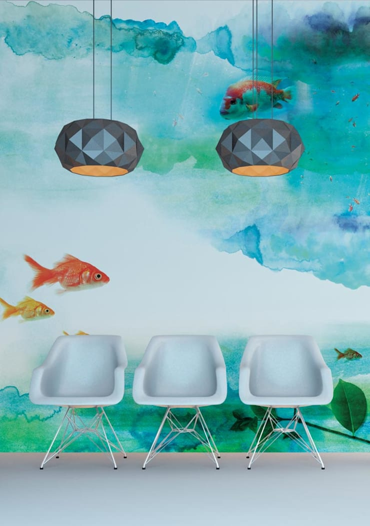 HF007-Aquarium:   por House Frame Wallpaper & Fabrics