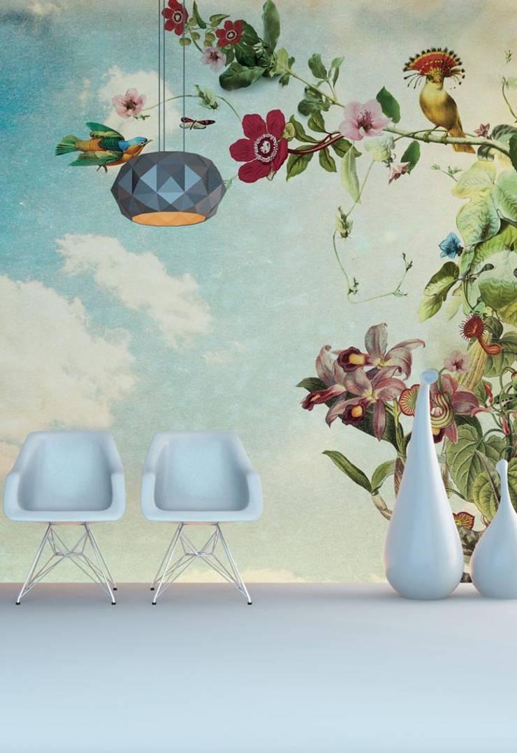 HF017-Flower-Garden:   por House Frame Wallpaper & Fabrics