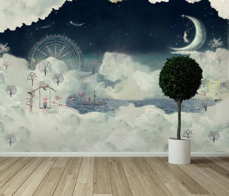 HF048-Ferris Wheel:   por House Frame Wallpaper & Fabrics