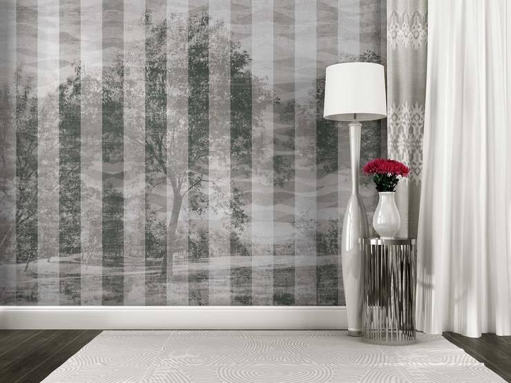 HF052-Black and White:   por House Frame Wallpaper & Fabrics