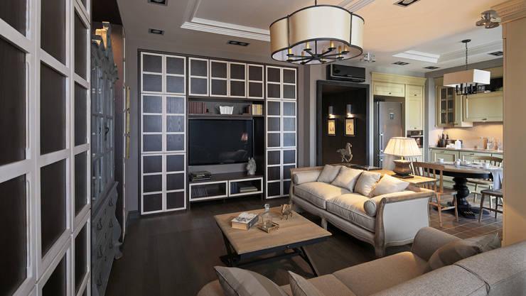 Apartment in Kurkino (Moscow) RU: Salon de style de style Classique par Petr Kozeykin Designs LLC, 'PS Pierreswatch'