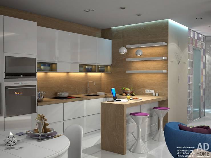 Современный дизайн интерьера,53 кв. м в ЖК Успенские горки: Кухни в . Автор – Ad-home