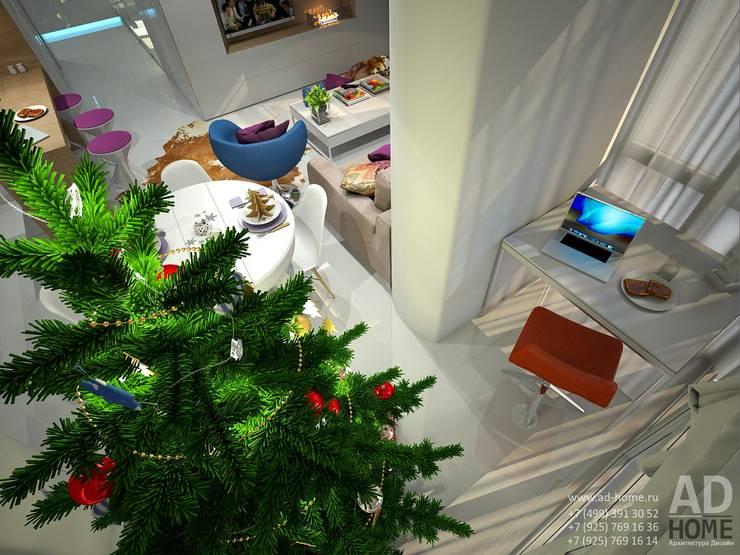 Современный дизайн интерьера,53 кв. м в ЖК Успенские горки: Tерраса в . Автор – Ad-home