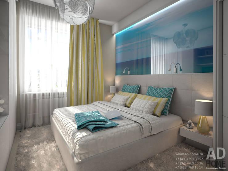 Дизайн интерьера квартиры с перепланировкой из 2-комнатной в 4-ехкомнатную, 68 кв. м, г. Москва: Спальни в . Автор – Ad-home
