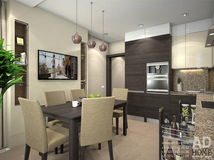 Дизайн интерьера двухкомнатной квартиры, 53 кв. м: Кухни в . Автор – Ad-home