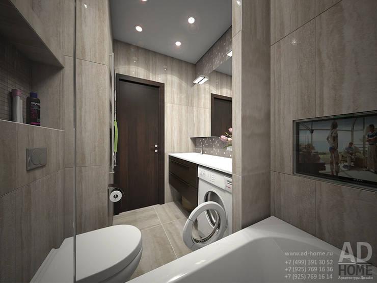 Дизайн интерьера двухкомнатной квартиры, 53 кв. м: Ванные комнаты в . Автор – Ad-home