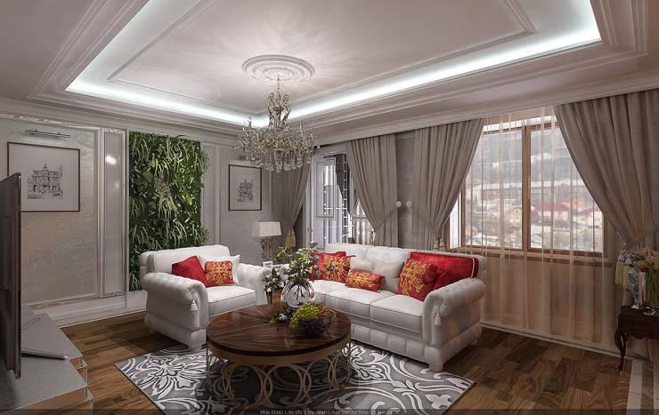 Квартира в г.Элиста 147кв.м.: Гостиная в . Автор – Студия дизайна Натали Хованской