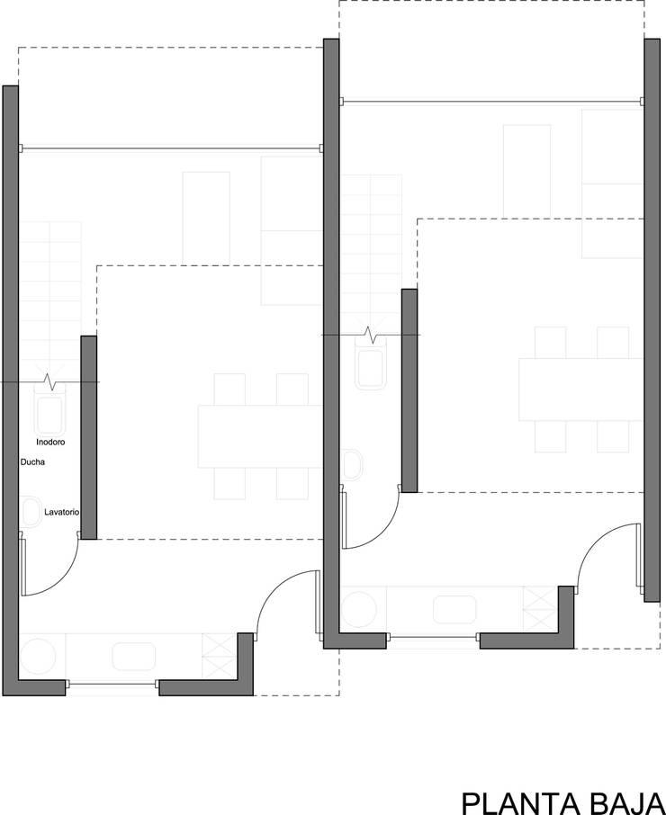 Planta Baja de AHA! Arquitectura