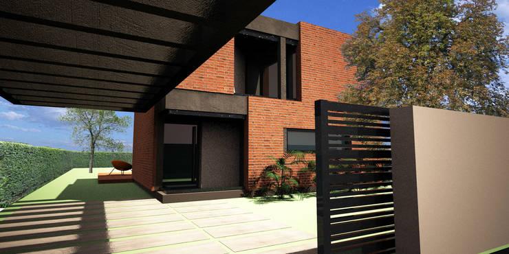 Casa Álvarez:  de estilo  por AHA! Arquitectura