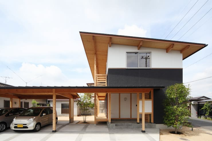 Houses by 三宅和彦/ミヤケ設計事務所, Country Wood Wood effect