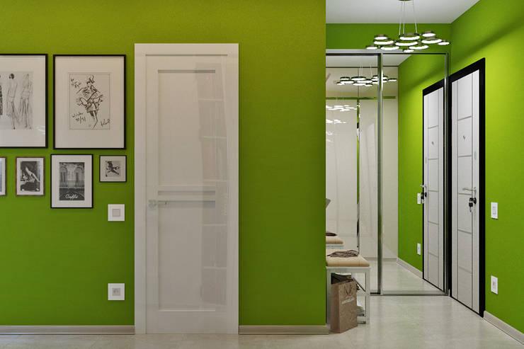 Corridor & hallway by Студия дизайна Interior Design IDEAS