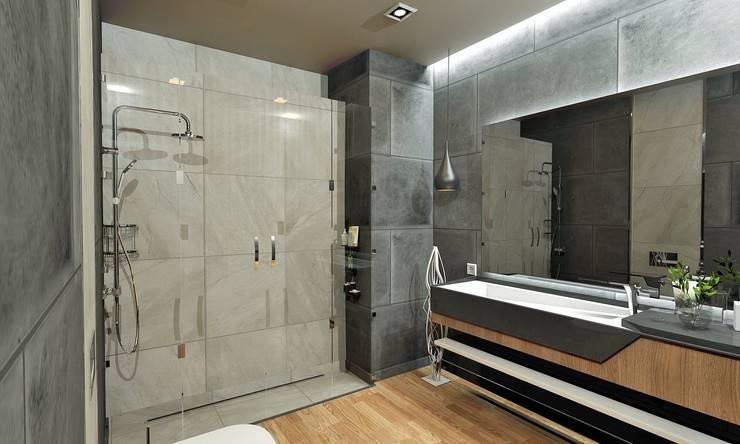 Murat Aksel Architecture – Suadiye rezidans: modern tarz Banyo