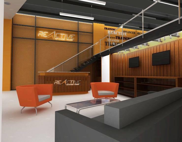 REACTIVE GYM  : Espacios comerciales de estilo  por tresarquitectos