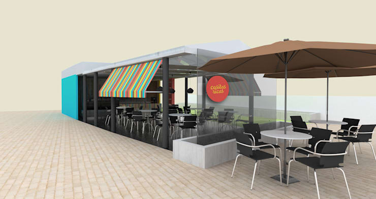 Restaurante _ Isabellas Place: Locales gastronómicos de estilo  por tresarquitectos
